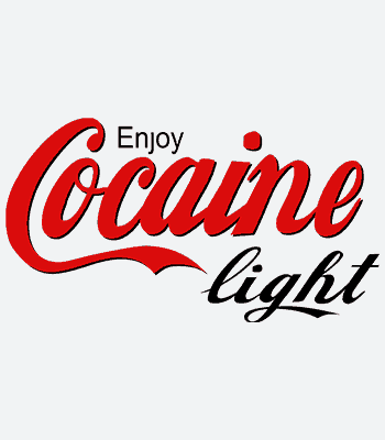 tričko enjoy cocaine light