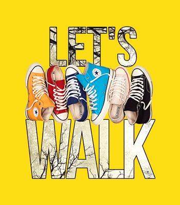 Lets walk converse