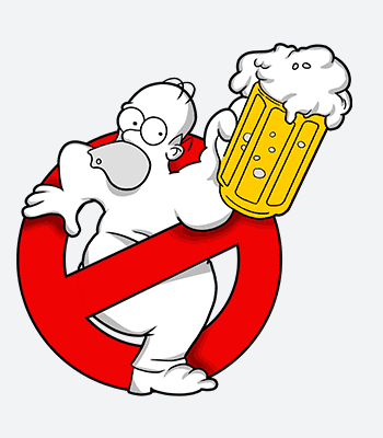 Tričko Homer Simpson Duff busters