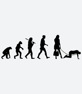 Potisk trička Evoluce Podpantofl
