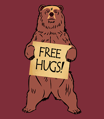 free hugs B burgundy