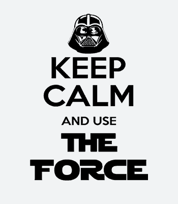 Keep calm Darth Vader triko
