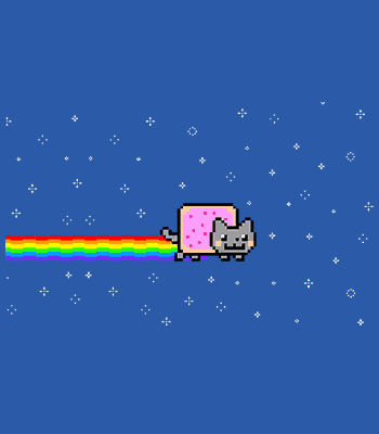 nyan cat b ROYAL BLUE