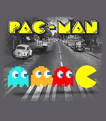 pac man B mouse gray