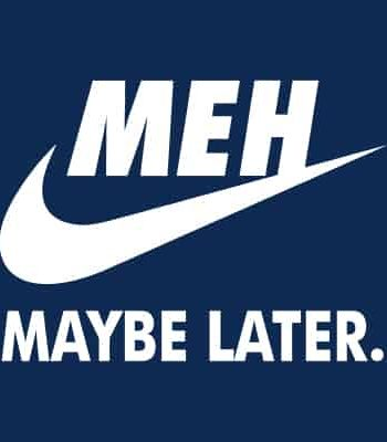 potisk na tričko Maybe later