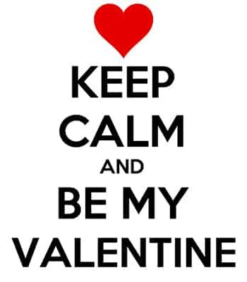 keep calm valentýn