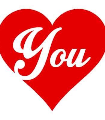 tričko na valentýna you