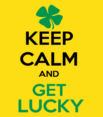 keep lucky B gold svg