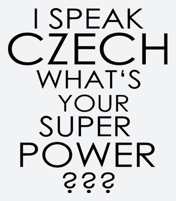 Potisk trička speak czech