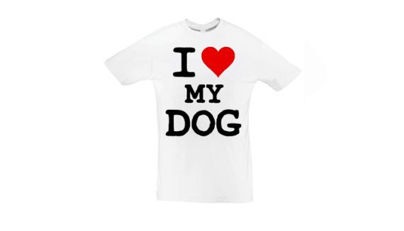 Potisk trička Love dog