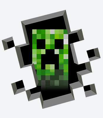minecraft B white