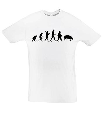 Potisk trička Evoluce prase