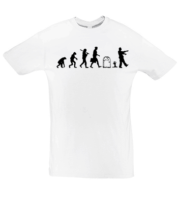 Potisk trička Evoluce zombie
