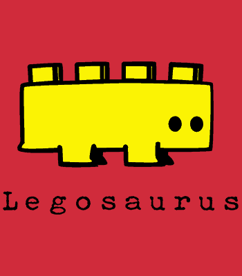 legosaurus B red
