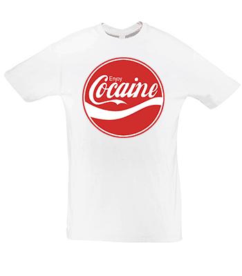 Vtipné originální triko Enjoy Cocaine