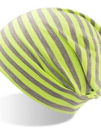 Dlouhá pruhovaná čepice