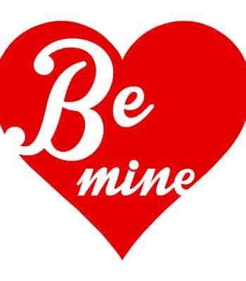 tričko na valentýna mine