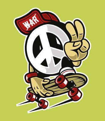 PeaceSkaterLimeproduktfoto